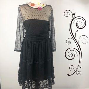 Torrid size 18 women's black dress